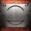 metal and brick background