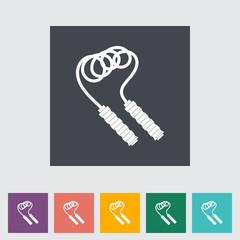 Skipping rope flat icon.