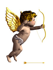 cupid angel with separated arrow