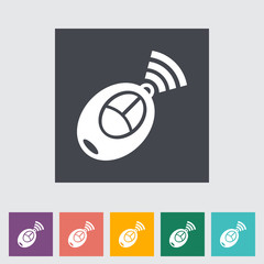 Remote control flat icon