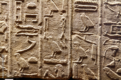 Ancient Egyptian Hieroglyphic Cuneiform writing