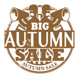 Stamp with the words Big Autumn Sale written inside, vector