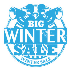 Stamp with the words Big Winter Sale written inside, vector