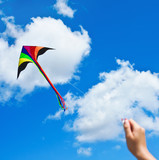 kite flying in a beautiful sky clouds