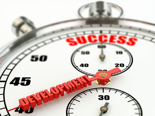Success and development concept. Stopwatch.