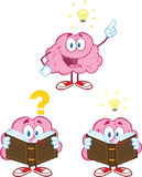 Brain Cartoon Mascot Collection 10