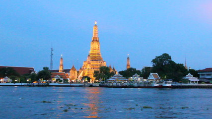 looking at view off Chaopraya river  in Bangkok,Thailand