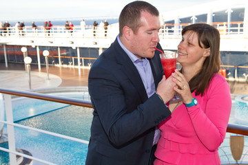 Couple Enjoying a Cruise Vacation