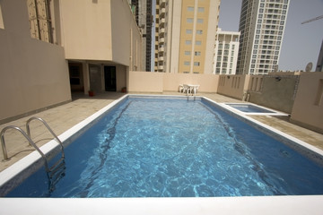 swimming pool at roof