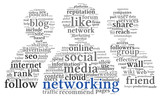 Social networking conept in word tag cloud