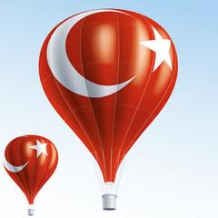 Vector illustration of hot air balloons as Turkey flag