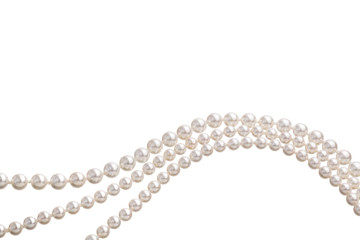 Chains of white pearls forming an ornament