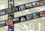 Prague travel memories - photo film strips