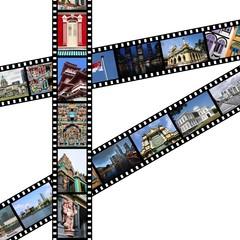 Singapore travel memories - photo film strips