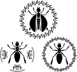 insects  stencils