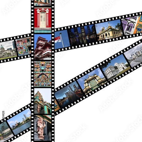 Singapore travel memories - photo film strips
