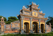 Gate in the old imperial city of Hue, Vietnam