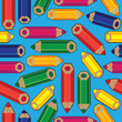 seamless pattern colored pencils