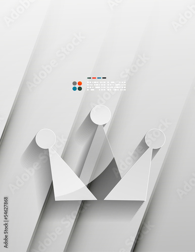 Vector crown 3d paper design