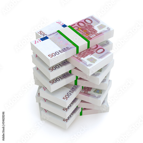 Bundles Of Euro Money (Financial Picture)