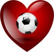 Fußball Herz Fan