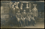 probably wedding guests - men and soldiers - circa 1940