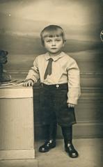 a boy - circa 1945