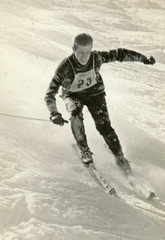 top rank skier - circa 1965