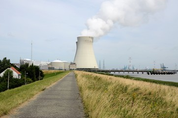 Landscape with cooling towers