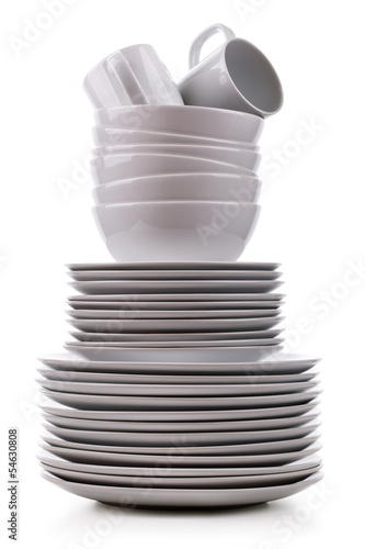 Stack of plates - 54630808