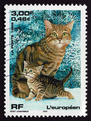 Postage stamp France 1999 European Cat, Pet