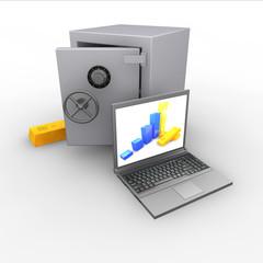 Cassaforte computer lingotto