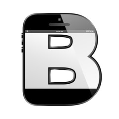 conceptual modern art design of the alphabet letter B