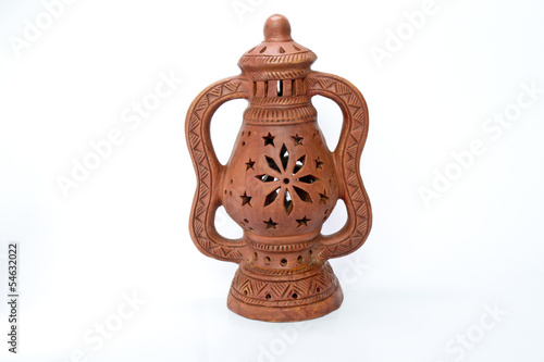 Terracotta Floral Designed Lamp 2