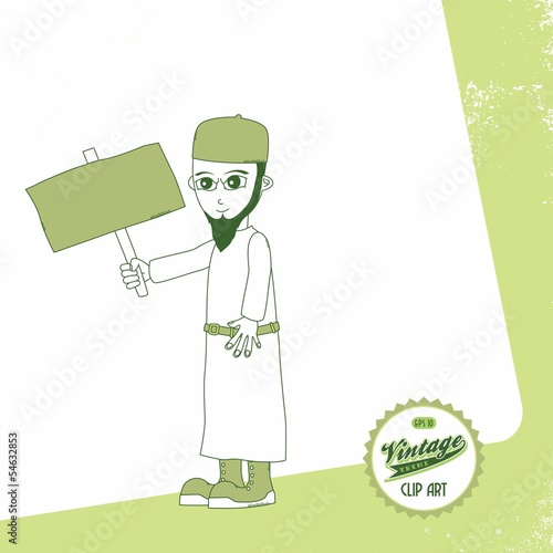 muslim guy cartoon