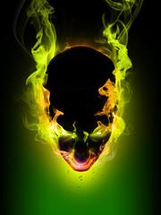 Daemon Flaming head