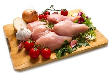 petti di pollo con ingredienti