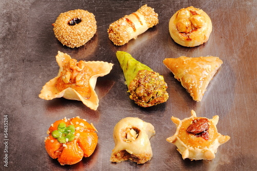 Arabic sweet pastries