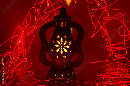 Light Painting Magic Terracotta Lamp 7
