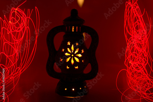 Light Painting Magic Terracotta Lamp 6