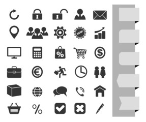 web icons and buttons  for business
