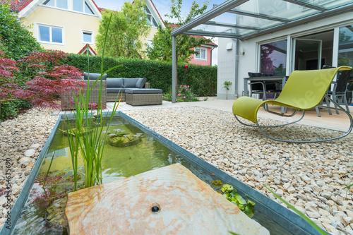 Fotobehang Tuin Kleiner Stadt Garten