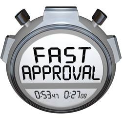 Fast Approval Words Stopwatch Timer Approved Loan Mortgage Credi