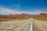Winding Road in a Desert Landscape poster