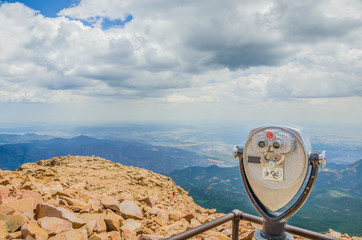 Coin-operated Binoculars at the Summit of Pikes Peak