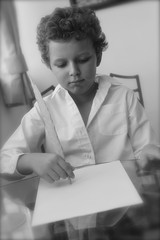Young Poet Writing