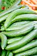 Frische grüne Gurken Salatgurken auf dem markt