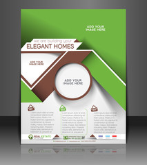 Vector Real Estate Flyer, Magazine Cover & Poster Template