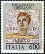 Постер, плакат: Roman poet Publius Vergilius Maro Virgil Italy 1981