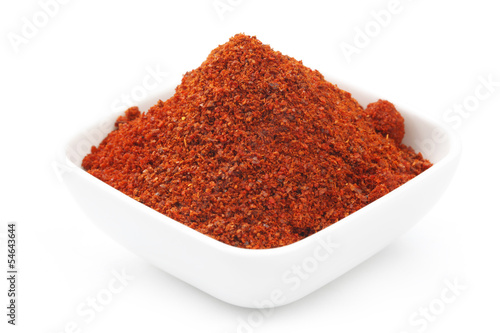 Red Chili powder in Square Bowl